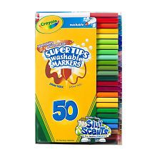 Crayola SuperTips Washable Markers  50Piece Set