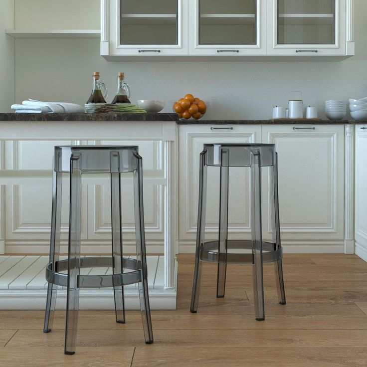 Bring modernistic beauty to the counter with this backless bar stool featuring a mid-century design. Made from durably thick material for lasting use and beauty, this stool gives your kitchen counter