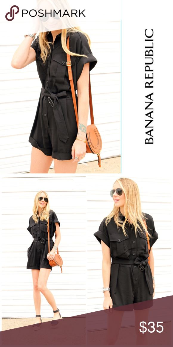 Banana Republic Black Romper Gently worn. Very good condition. No piling, stains or holes. Bought Summer 2015. Size 6Petite. No longer fits, so it needs a new home before Summer begins. No trades no pp. more pictures soon and measurements upon request. Price is firm. Banana Republic Pants Jumpsuits & Rompers
