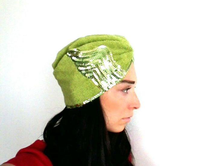 Yeşil Havlu Saç BantıTürban Bone Zet.com'da 79.90 TL