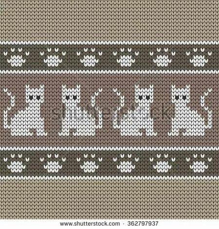 Wayuu Mochila pattern cats and paw prints