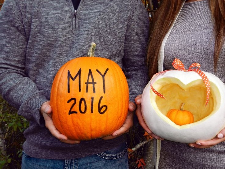 October pregnancy announcement! Adding a little pumpkin to our patch