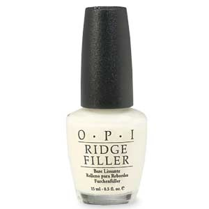 If you are like me and dont wear fake nails and work hard to keep your natural nails nice,I use OPI Ridge Filler exclusively. As a basecoat it sets your mani up for a perfect, hard, smooth nail. I use it for my pedicures as well. I swear by it. OPI Nail Treatments Ridge Filler