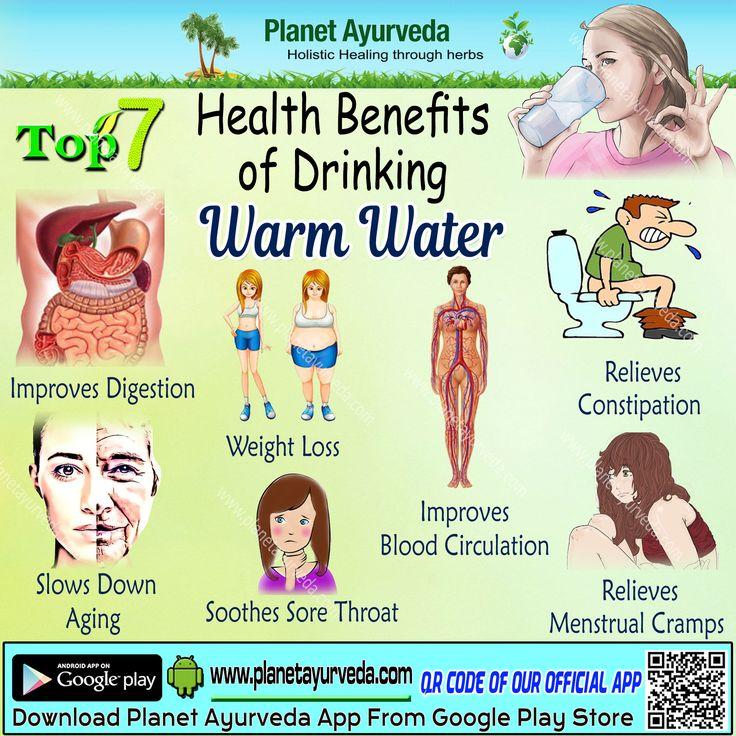 Top 7 Health Benefits of #drinking warm water #improvesdigestion #weightloss #slowsdownaging #soothessorethroat #improvesbloodcirculation #relievesmensturalcreamps #relievesconstipation