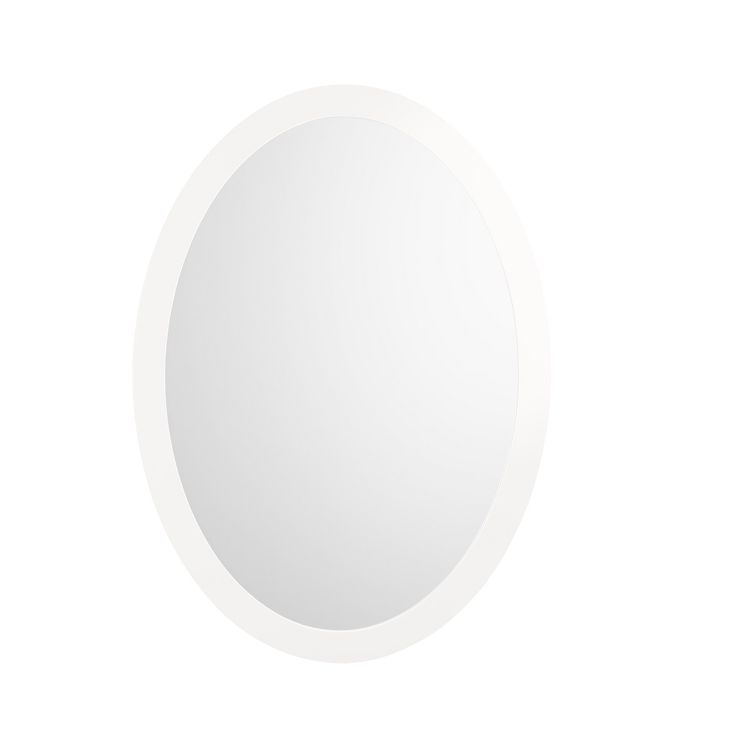 Pic Of Ronbow Silhouette Solid Wood Frame inch x inch Oval Bathroom Mirror