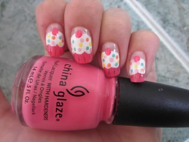 Cute cupcake nails ♥: Nails Nails, Cute Cupcakes, Nails Art, Cute Nails, Cupcake Nails, Nails Ideas, Pinky Pie, Cupcakes Nails, Nails 3