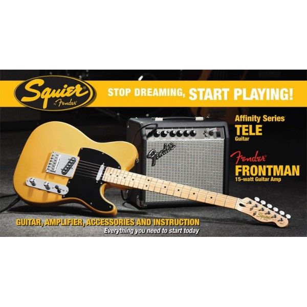Buy Squier Affinity Telecaster BTB electric guitar + FM15G amplifier at MusicNexo Electric Guitars online store