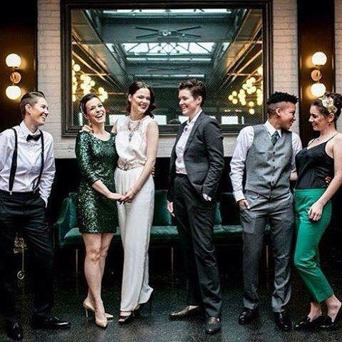 """Today's #HERFashion week feature is: dapperQ !! """"Transgressing Men's Fashion"""" is just the tip of the iceberg for this company! They provide a variety of styles to keep the masses looking dapper in any situation! ❤️❤️❤️☺️☺️☺️❤️❤️❤️ #lesbian #bi #bisexual #lez #queer #lezgram #lesbiansofinstagram #womenwholovewomen #girlswhokissgirls #teamlesbian #instagay #stud #femme #gay #lesbiansofig #equality #iamher #weareher"""