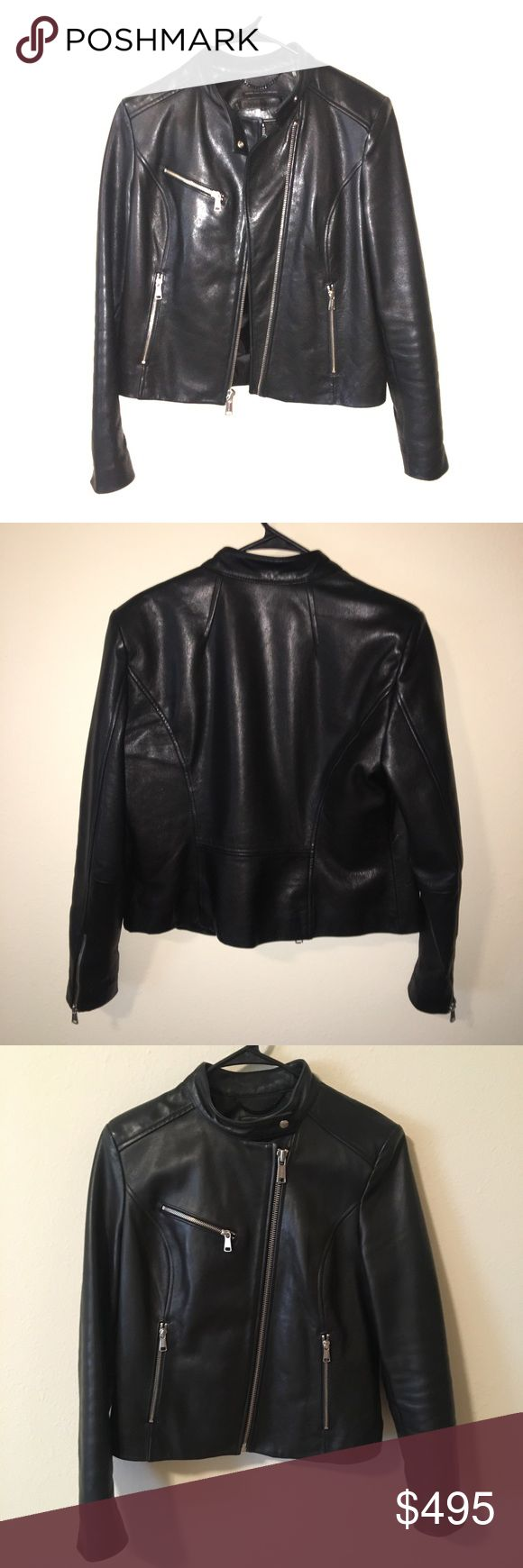 Andrew Marc x Richard Chai Leather Jacket Excellent used condition/like new. Authentic 100% leather designer luxury moto jacket. Silver zippers with Andrew Marc imprinted. Thick leather to keep you warm and dry in all weather. I absolutely adore this jacket but need to downsize. Andrew Marc Jackets & Coats