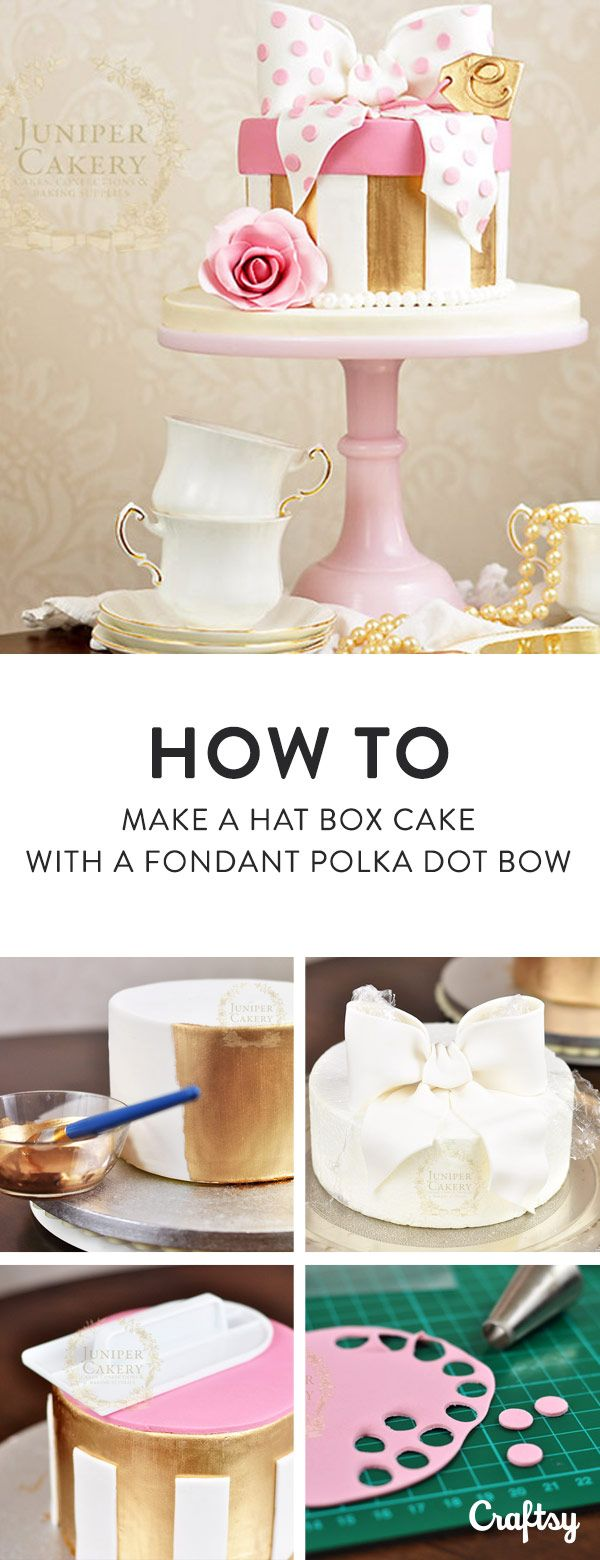 Learn how to make an adorable, vintage hat box cake with this easy photo tutorial.