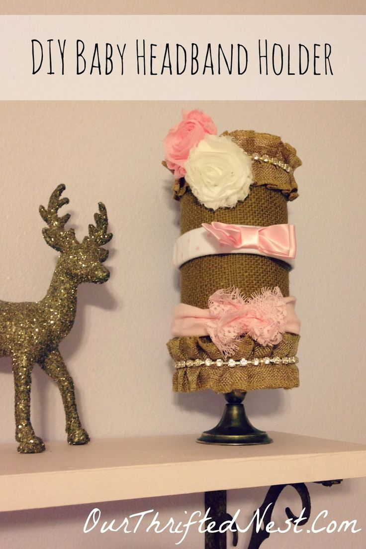Our Thrifted Nest: DIY Baby Headband Holder