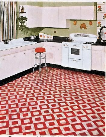 1000 images about linoleum on pinterest kitchens retro renovation and 1940s kitchen - Retro flooring kitchen ...