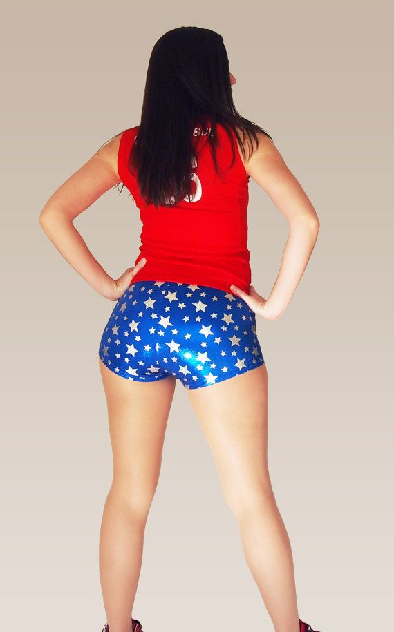 Shiny Star Print Roller Derby Shorts by HellcatClothing on Etsy