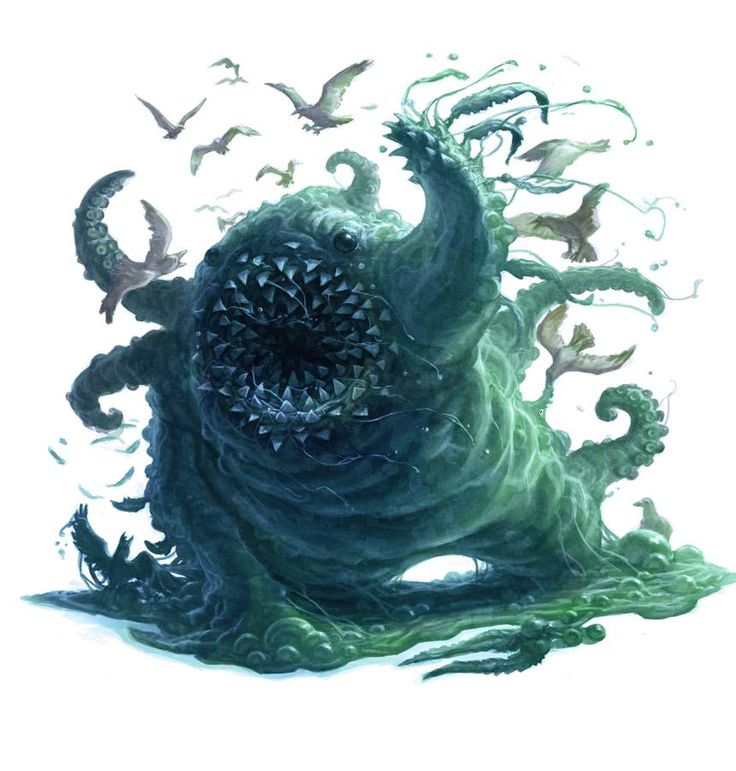 Globster – Water oozes, but I just love the Pathfinder variety, the real myth stinks though, just a mass of floating (in the water) blubber of whales.