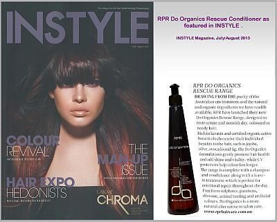 Do Organics Rescue Conditioner as featured in INSTYLE July.August - News - RPR Hair Care Pty. Ltd.