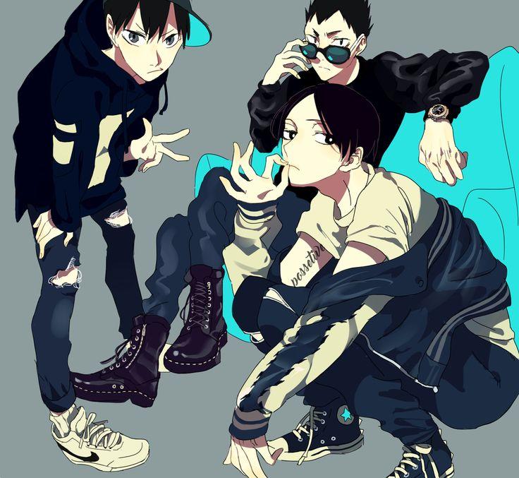Haikyuu!! // Kageyama, Kunimi, and Kindaichi
