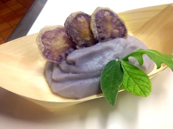 Mouselline di patate Delizia Blu con chips di patate ed erbette!