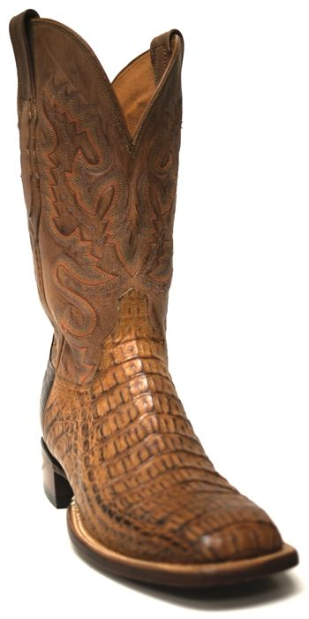 New to STT -- Lucchese Men's Vanilla Caiman Cowboy Boots-- Lucchese is known for their spectacular craftsmanship and these Vanilla Caiman men's cowboy boots are no exception! The Caiman bottoms are stunning and the subtle stitched tops compliment them without being distracting | SouthTexasTack.com