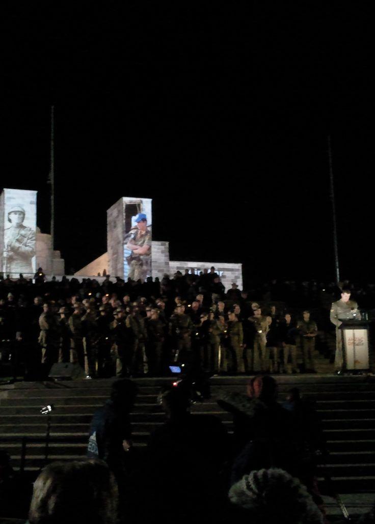 Canberra 2013: Anzac Day dawn service at the Australian War Memorial. Ben Roberts-Smith speaks.