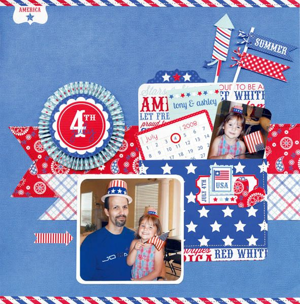 On pinterest scrapbook pages fourth of july and scrapbook layouts - 1000 Images About Layouts Patriotic On Pinterest Fourth