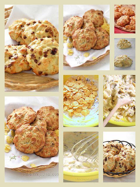 печенья с кукурузными хлопьями