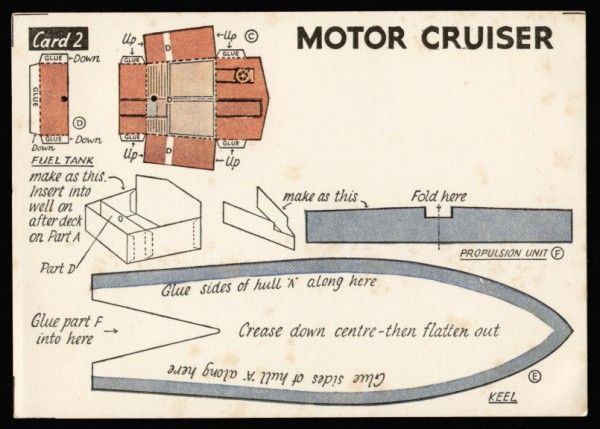 Motor Cruiser second edition card 2 Modelcraft