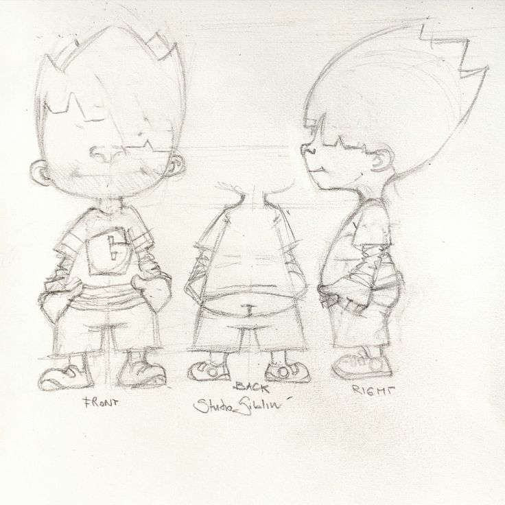 First sketch of Giblin chatacter, for art toys