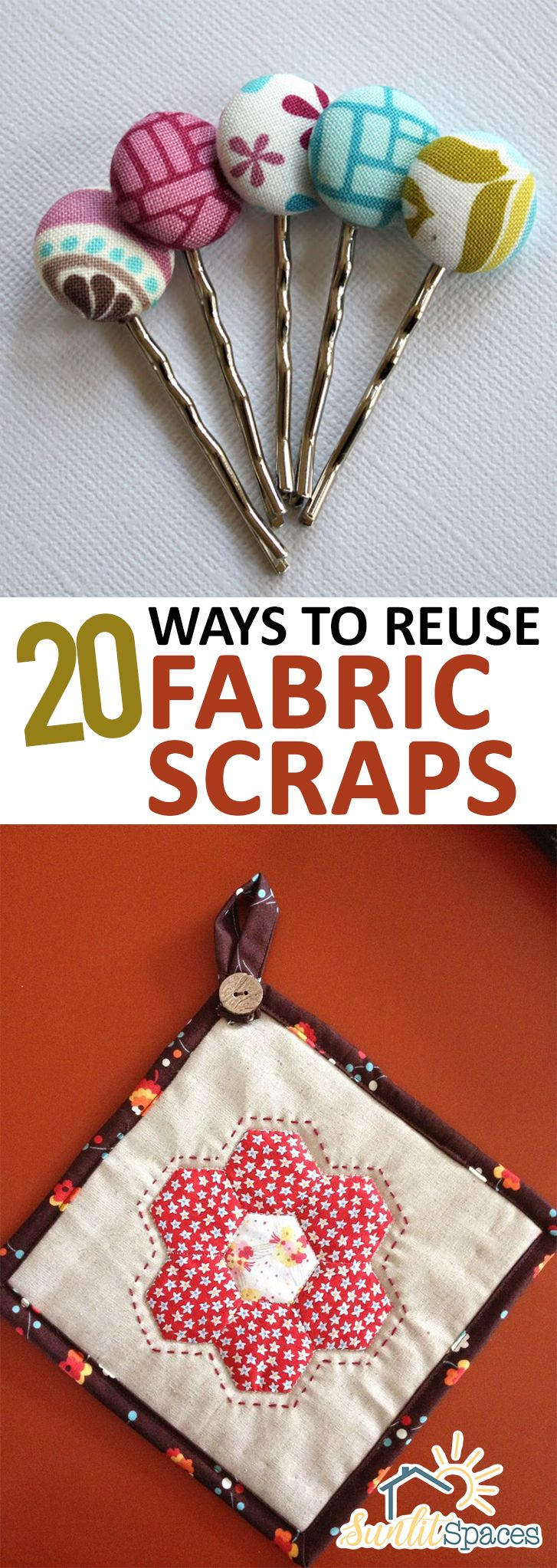 How to Reuse Fabric Scraps, Things to Do With Fabric Scraps, Fabric Scrap Crafts, Easy Sewing Projects, Simple Sewing Projects, Quick Sewing Projects, Repurpose Fabric Scraps, Popular Pin.
