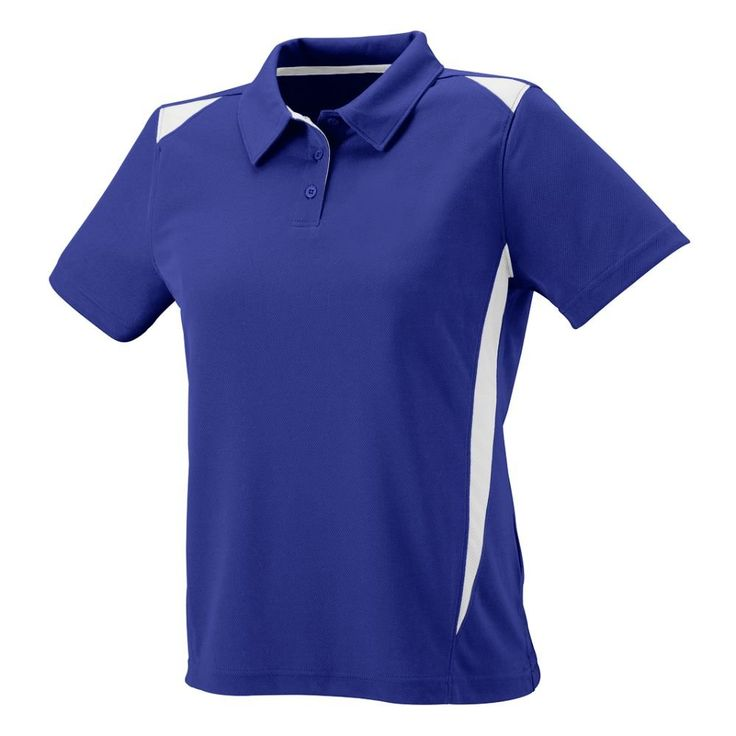 Augusta Sportswear WOMEN'S PREMIER SPORT SHIRT M Purple/White. WEAR AND TEAR FABRIC - This shirt is made from durable polyester that can endure continuous usage. Coaches and athletes will enjoy wearing this quick drying T shirt. STAY DRY AND FRESH - With polyester's wicking property, athletes can be confident to play on the field because they will stay dry and fresh. The pinhole mesh keeps sweat away from the shirt owner's body. 4-WAY STRETCH - Move with ease with the Augusta Sportswear...
