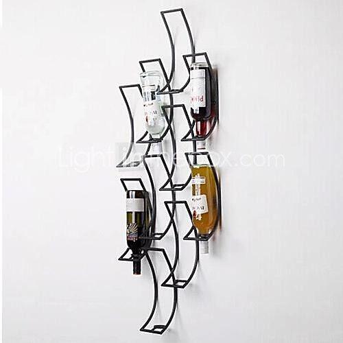 metalen kunst aan de muur muur decor, de geometrie van het wijnrek muur decor 2017 - €219.51