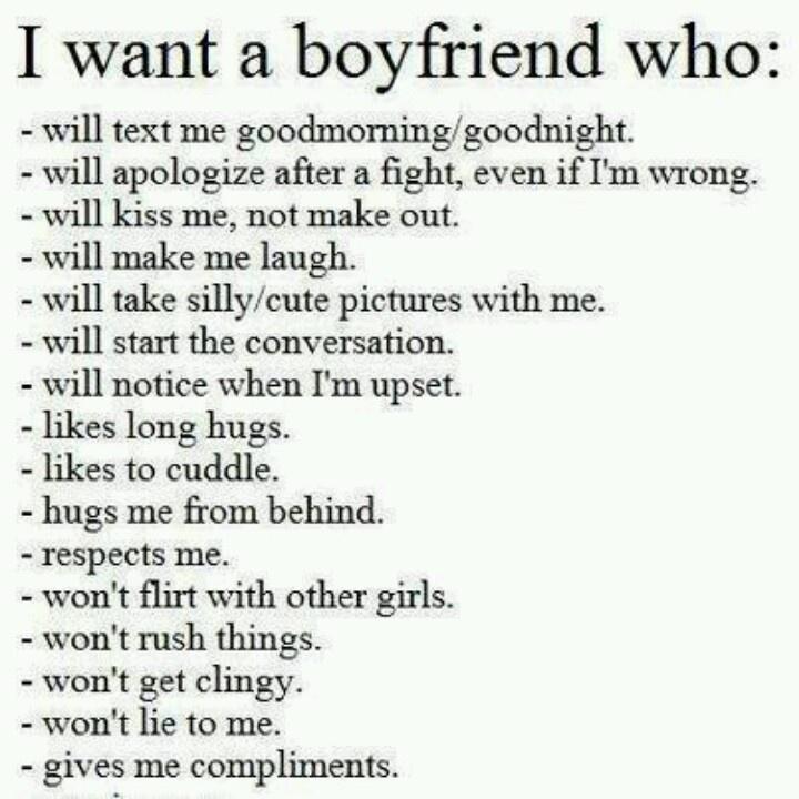 what kind of boyfriend do i need