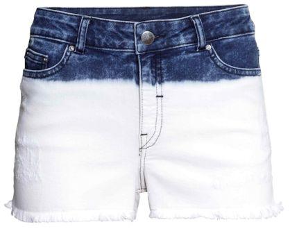 Short en jean décoloré, H&M