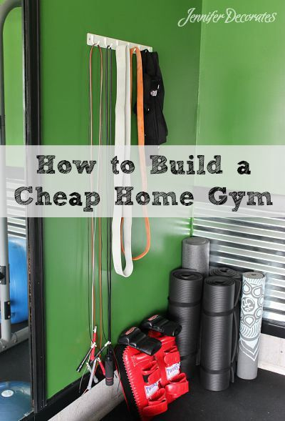 How to build a cheap home gym from Jenniferdecorates.com                                                                                                                                                                                 More