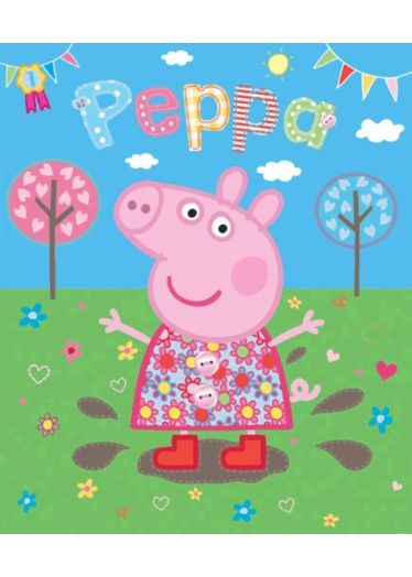 Peppa Pig Wallpaper Mural http://www.childrens-rooms.co.uk/peppa-pig-wallpaper-mural.html #peppapigmural #muddypuddles #girlsbedroomdecor