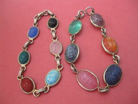 Oh wow! Yes! Everyone had these.  I still have mine here somewhere. scarab bracelets