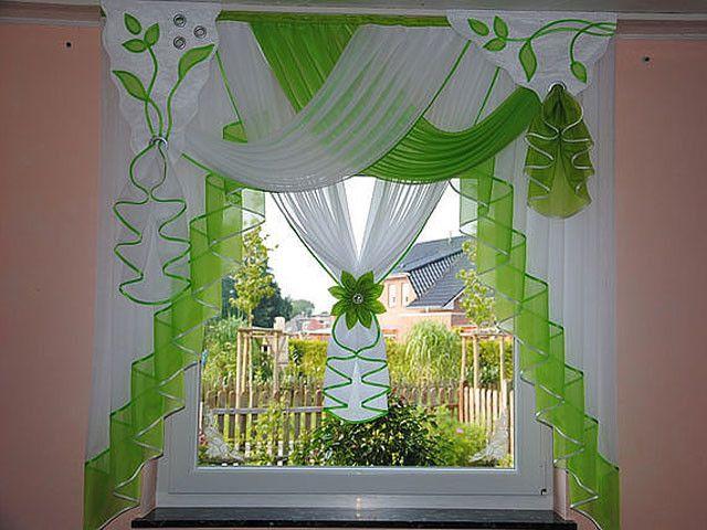 Die besten 25+ Gardinen küche grün Ideen auf Pinterest Gardinen - gardinen wohnzimmer grun