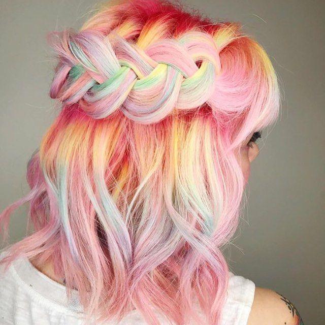 Pink rainbow style