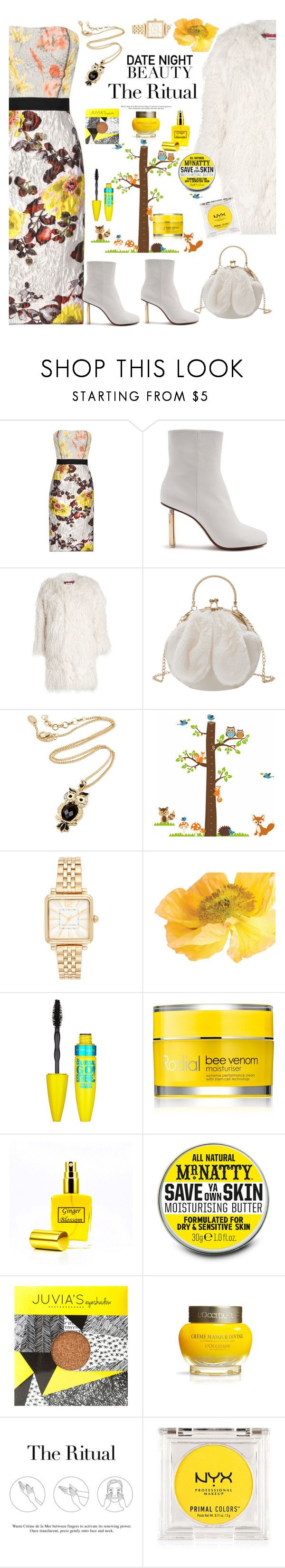 """""""The Rite of Passage"""" by felicitysparks ❤ liked on Polyvore featuring Oscar de la Renta, Vetements, Zadig & Voltaire, Amrita Singh, Marc Jacobs, Maybelline, Rodial, Mr Natty, SkinCare and La Mer"""