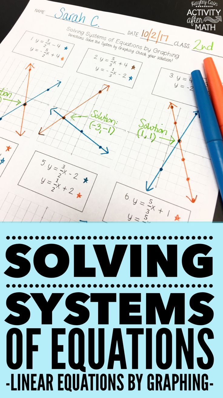 Solving Systems of Equations by Graphing Practice Worksheet   Systems of  equations [ 1313 x 736 Pixel ]