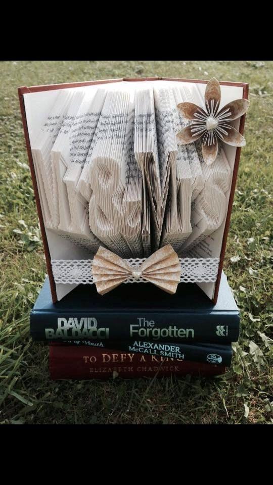Book Folding Pattern Mr and Mrs