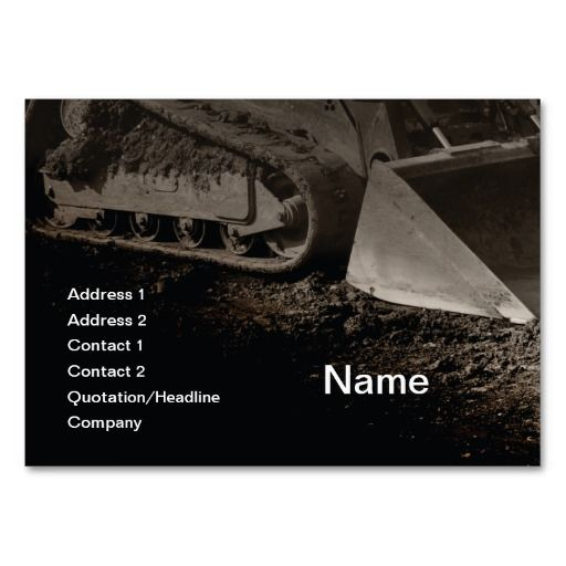 184 best construction business cards images on pinterest construction equipment large business card reheart Image collections