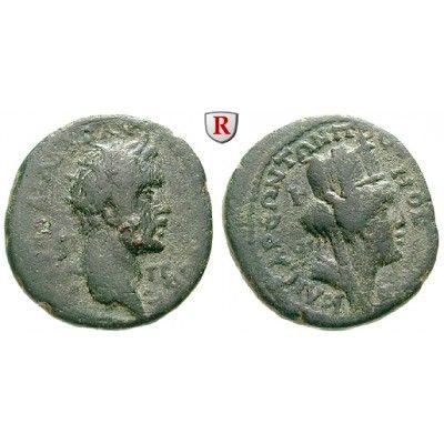 Römische Provinzialprägungen, Kilikien, Anazarbos, Antoninus Pius, Assarion 159/160 (Jahr 178), ss: Kilikien, Anazarbos. AE-Assarion… #coins