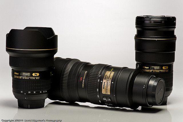 Nikon's Holy Trinity :)  2.8 Nano ED Pro Glass (14-24, 24-70, 70-200)