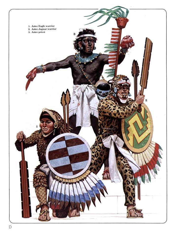 D 1aztec eagle warrior2aztec jaguar warrior3aztec