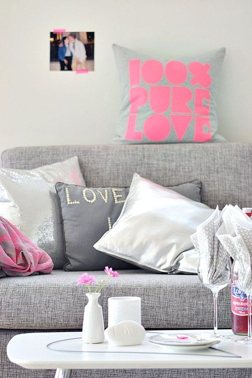 Best 49 Pink & Grey Decor Images On Pinterest