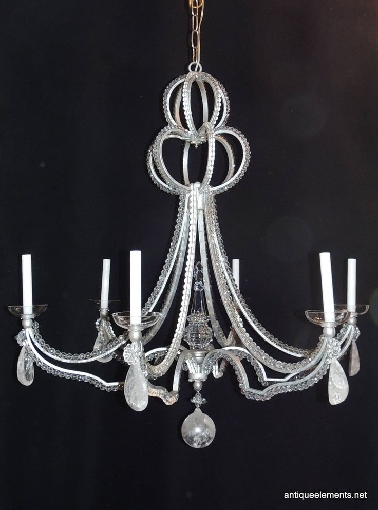 28 best rock crystal chandelier images on pinterest crystal vintage modern niermann weeks six light beaded rock crystal bagues chandelier aloadofball Image collections