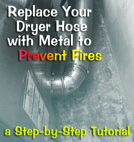 I had no idea the flexible silver dryer hoses were not actually metal! Good tips on replacing your dryer hose to prevent fires.