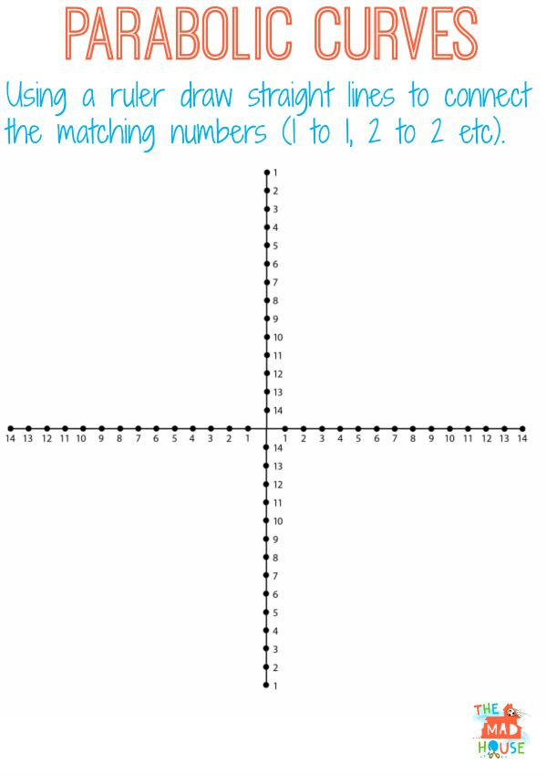 Drawing Lines With A Ruler Worksheet : Math string art worksheet best free printable