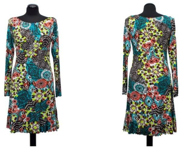 Jersey-Kleid für Damen mit gratis Schnittmuster