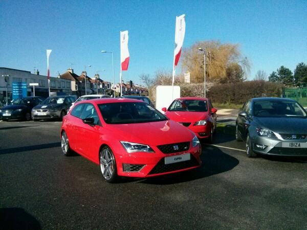 The SEAT Leon Cupra is just one of the latest models you could get a 14 plate on at Essex Auto Group > #cupra #leon